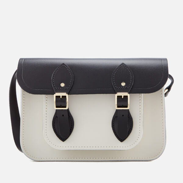 The Cambridge Satchel Company Women's 11 Inch Magnetic Satchel - Black and Clay