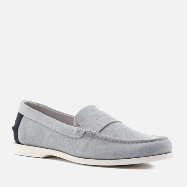 331e0cfe4 Lacoste Men s Navire Penny 216 Suede Loafers - Grey  Image 2