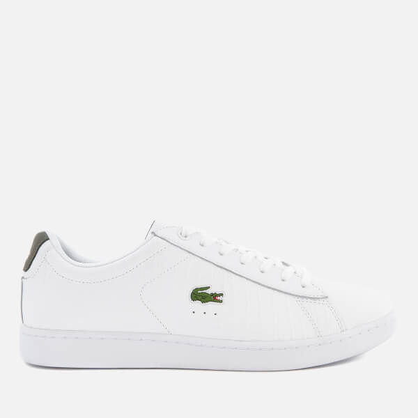 9c64886b3 Lacoste Men s Carnaby Evo G117 Trainers - White Khaki Mens Footwear ...