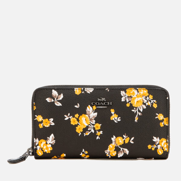 Coach Women's Accordion Zip Wallet in Prairie Print - Black
