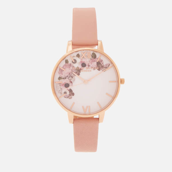 Olivia Burton Women's Signature Florals Watch - Dusty Pink & Rose Gold