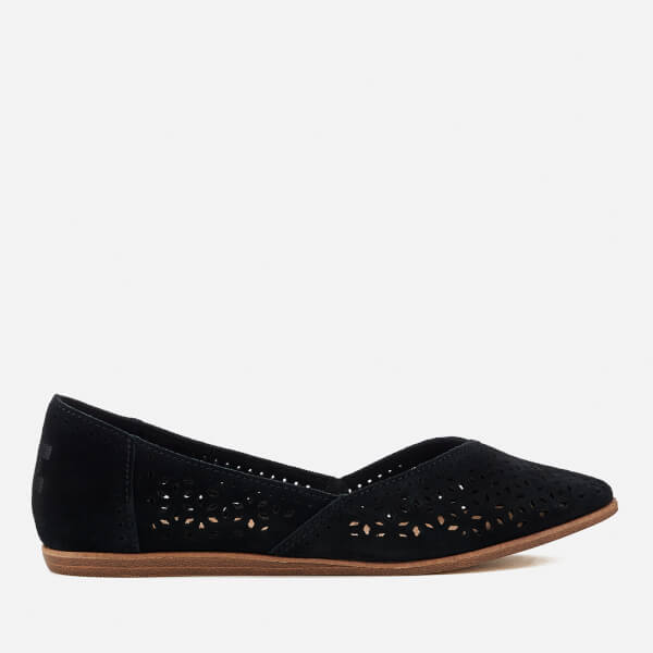 TOMS Women's Jutti Suede Pointed Flats - Black