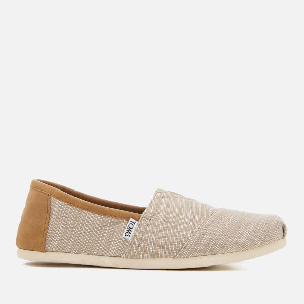 TOMS Men's Alpargata Chambray Slip-On Pumps - Oxford Tan