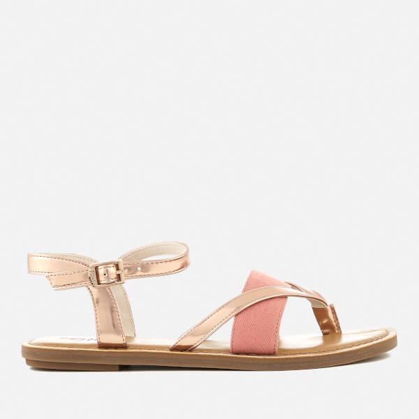 TOMS Women's Lexie Strappy Sandals - Rose Gold Specchio/Hep