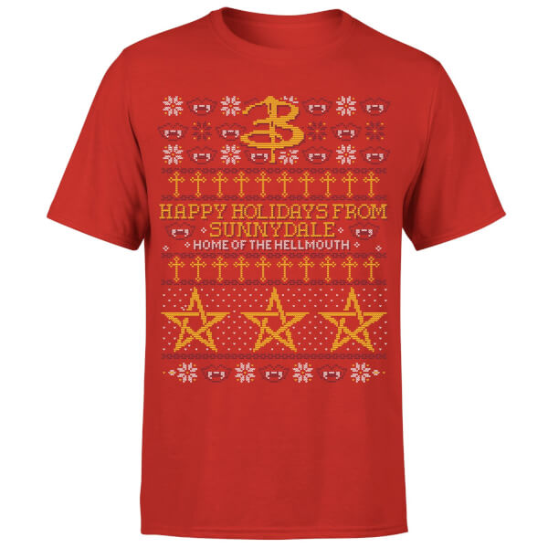 Buffy The Vampire Slayer Slay Bells Ring T-Shirt - Red