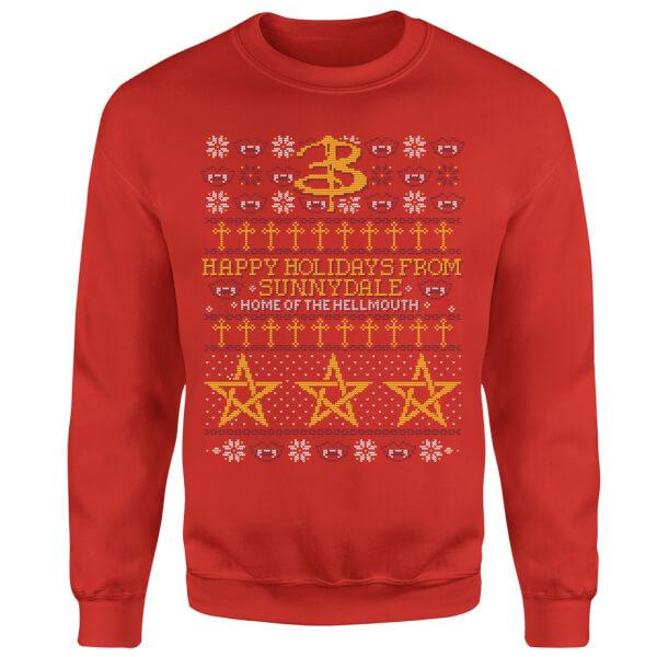Buffy The Vampire Slayer Slay Bells Ring Sweatshirt - Red