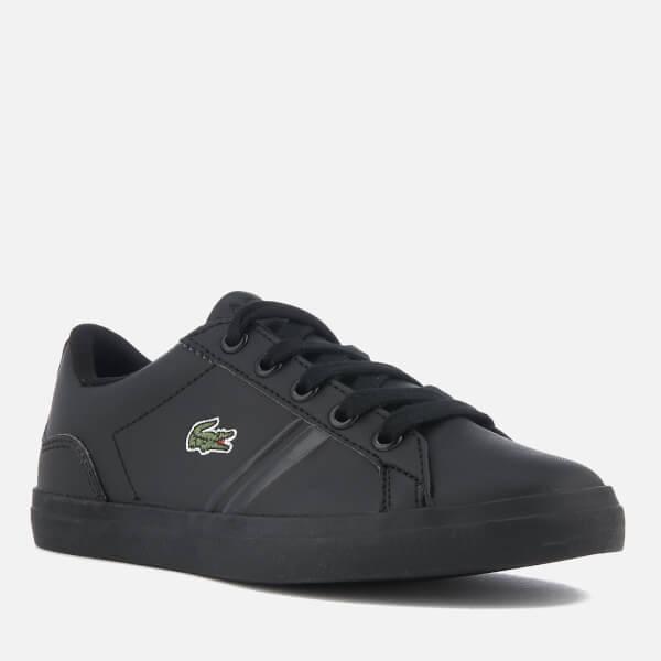 8454288b8e8b30 Lacoste Kids  Lerond 218 2 Trainers - Black Junior Clothing