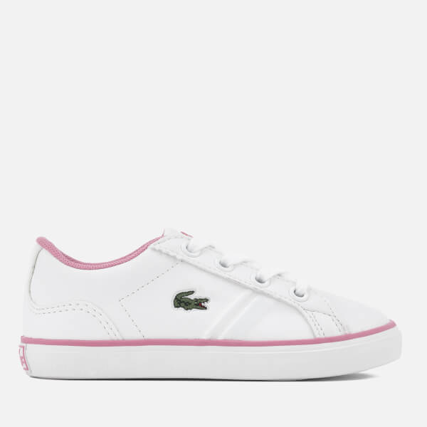 fbc56a727236de Lacoste Toddlers  Lerond 218 2 Trainers - White Pink  Image 1