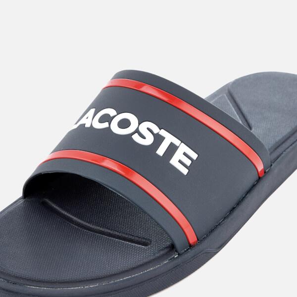 5fdcbd7f988ef0 Lacoste Men s L.30 118 2 Slide Sandals - Navy Red  Image 6