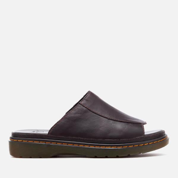 56235e127fc Dr. Martens Men s Achava Overdrive Slide Sandals - Dark Brown Mens ...