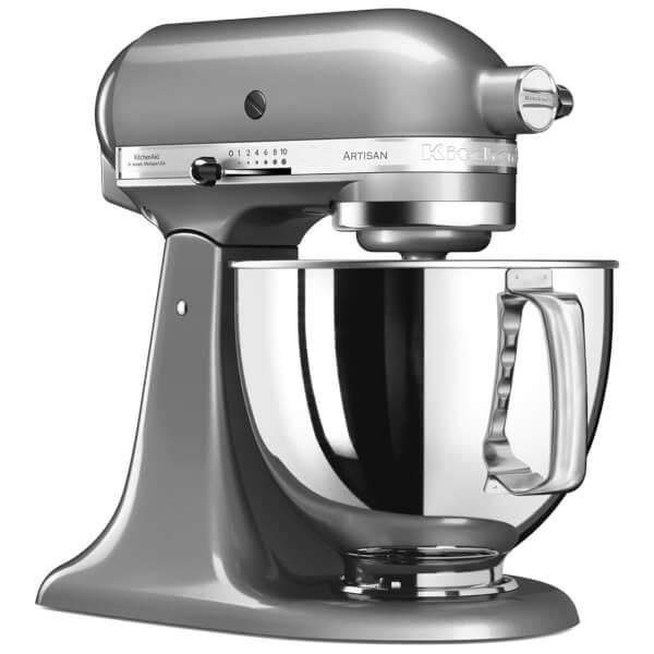 KitchenAid 5KSM175PSBCU Artisan 4.8L Stand Mixer   Contour Silver: Image 1
