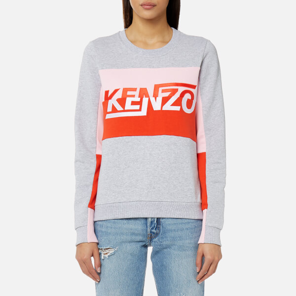 KENZO Women's Light Cotton Molleton Sweatshirt - Pale Grey