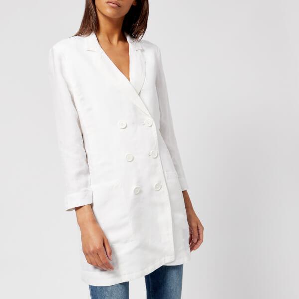 armani exchange women's double breasted blazer - white - us 8/uk 12 - white