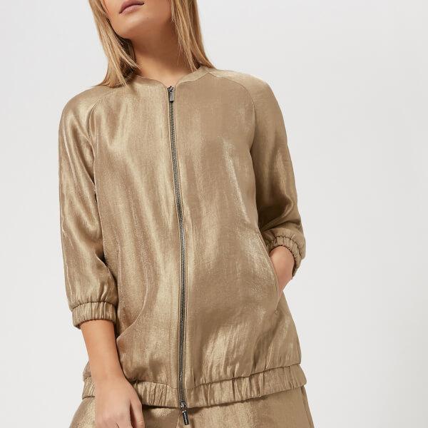 armani exchange women's metallic jacket - gold - s - gold