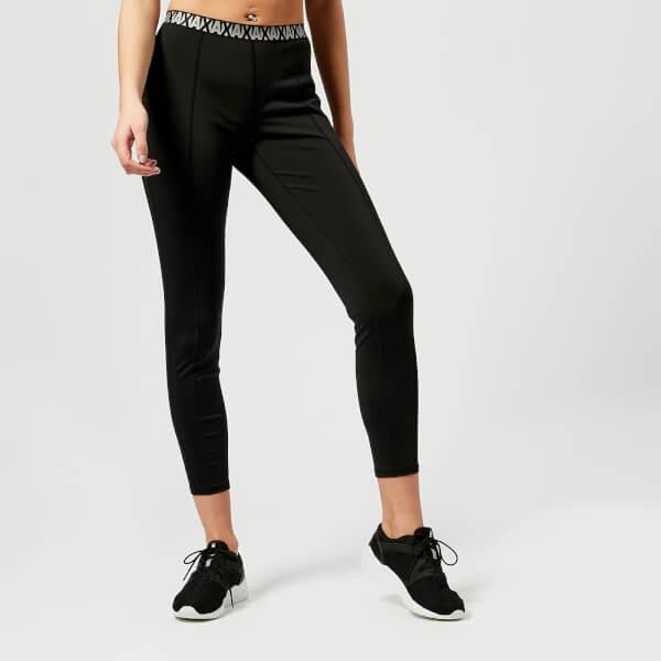 armani exchange women's jersey leggings - black - l - black