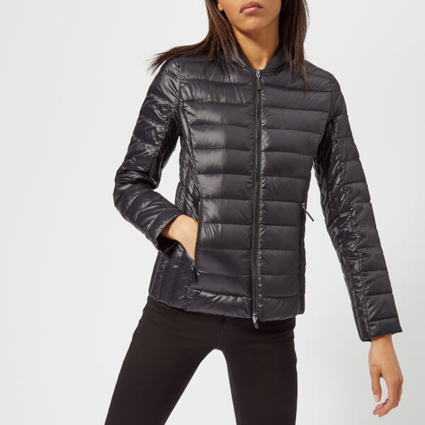 armani exchange women's down jacket - black - l - black