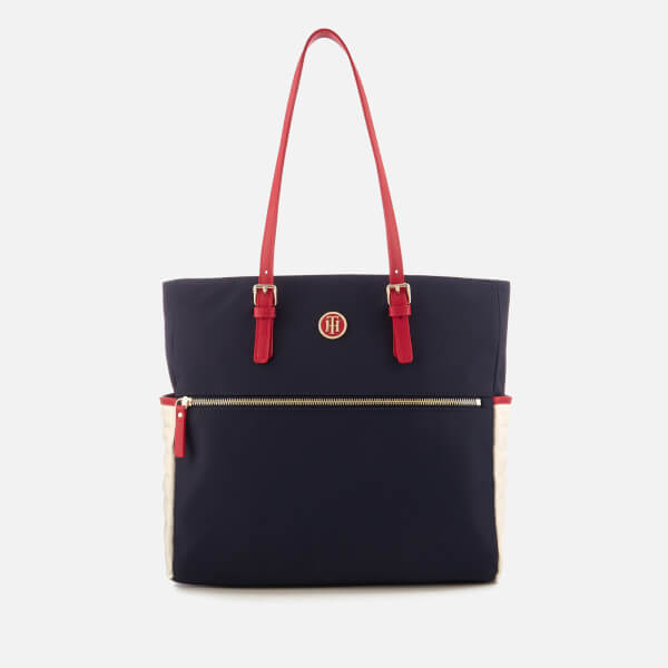 8ea5a21744a Tommy Hilfiger Women's Chic Nylon Tote Bag - Navy: Image 1