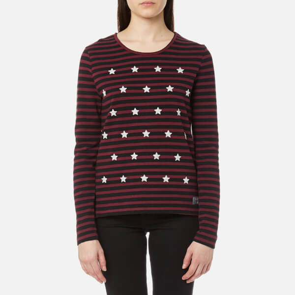 Outlet Cheap Prices Geniue Stockist For Sale Superdry Women's Tansy Stripe Long Sleeve Top - Stripe - XS Store Cheap Online oEPVugsDt