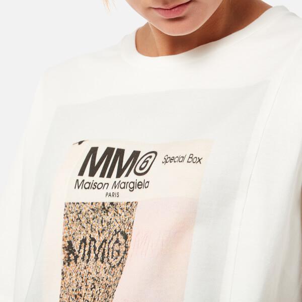 Mm6 Maison Margiela Women S American Jersey Logo T Shirt White