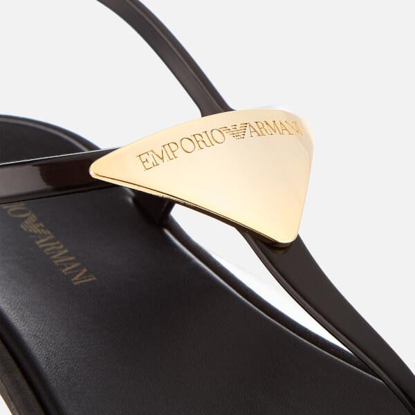 ba5da9739 Emporio Armani Women s Coqui Soft Jelly Sandals - Black  Image 3