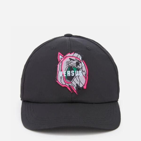 Versus Versace Men's Neon Logo Cap - Black/Fuxia