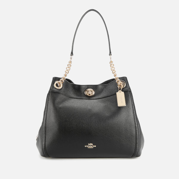 Coach Women's Turnlock Edie Shoulder Bag - Black