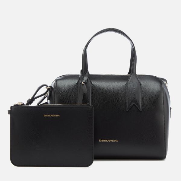 Emporio Armani Women s Boston Bag - Black Womens Accessories ... a2c19e469cee7
