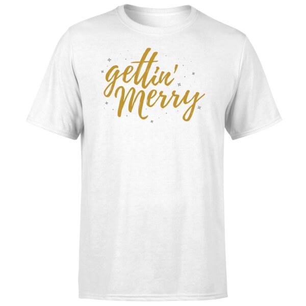 Gettin' Merry T-Shirt - White