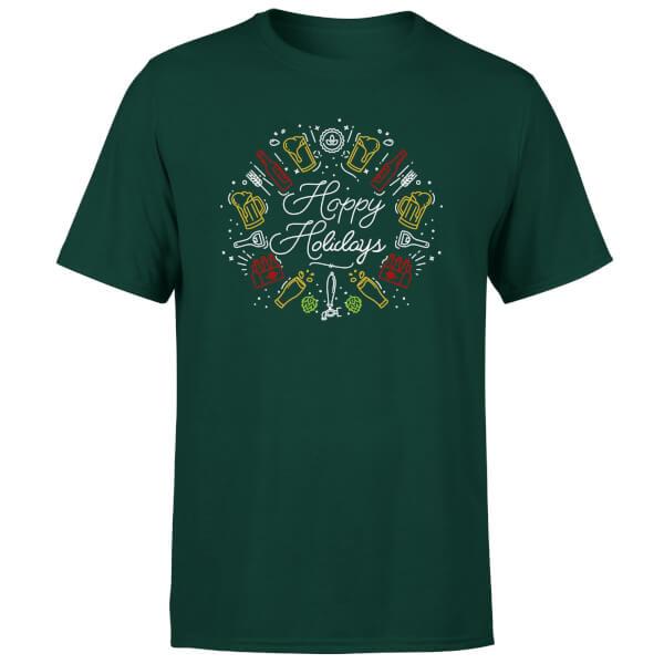 Hoppy Holidays T-Shirt - Forest Green