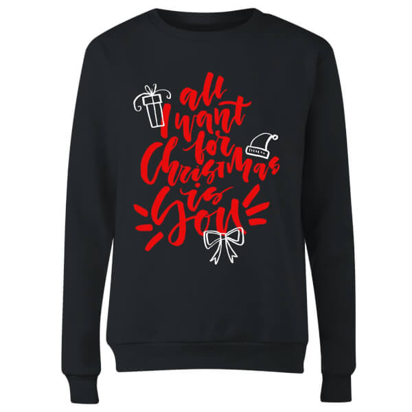 All i want for Christmas Women's Sweatshirt - Black