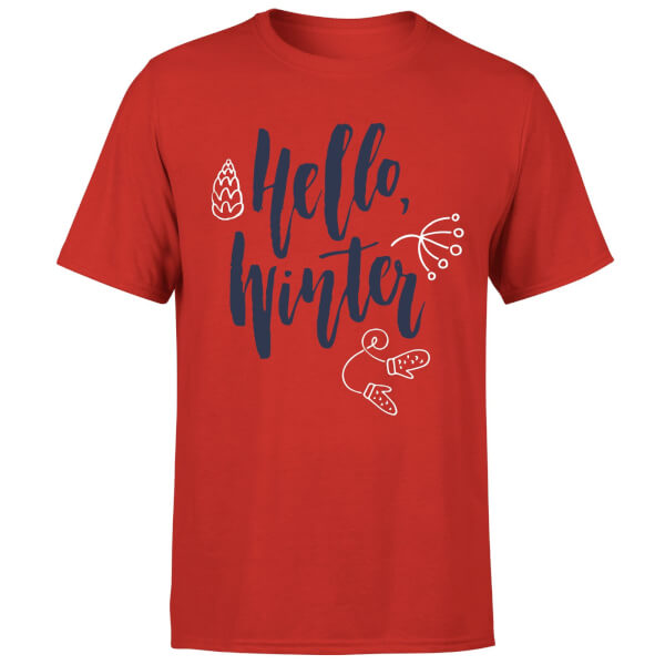 Hello Winter T-Shirt - Red