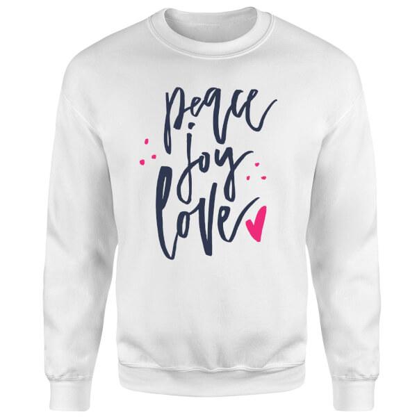 Peace Joy Love Sweatshirt - White