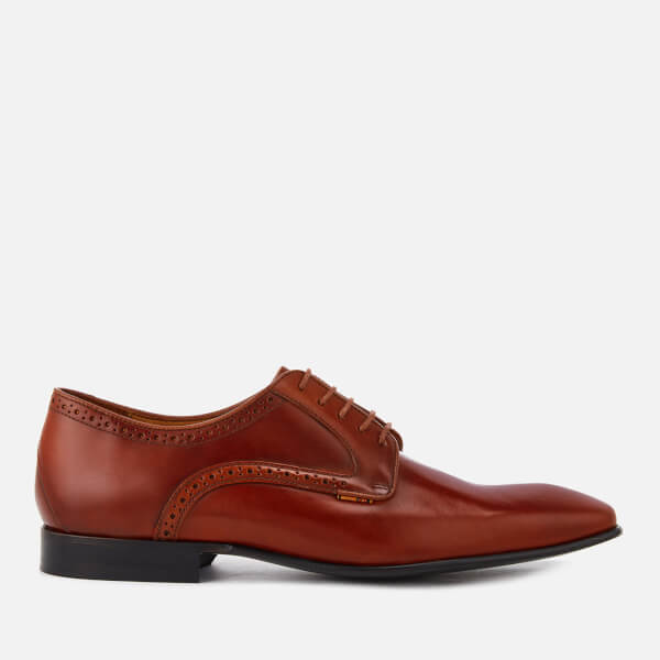 PS by Paul Smith Men's Roth Leather Almond Toe Derby Shoes - Tan
