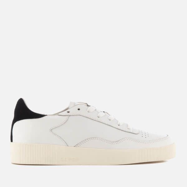 Senso Women's Arden Leather Low Top Trainers - Ebony