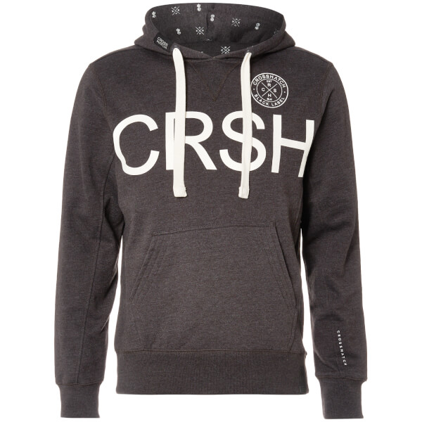 Crosshatch Men's Retrojer Hoody - Charcoal Marl
