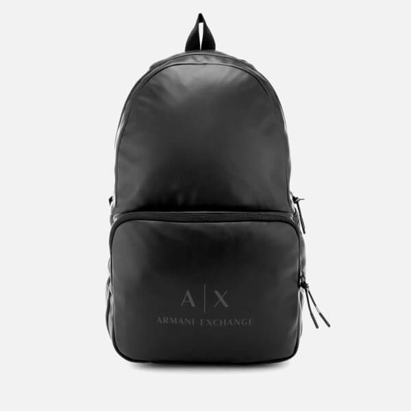 Armani Exchange Men's Eco-Nappa Backpack - Black/Gun Metal