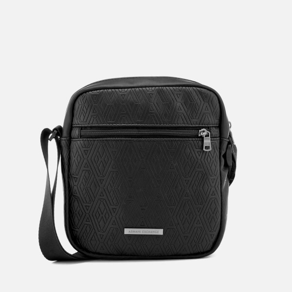 Armani Exchange Men's Reporter Bag - Black Print