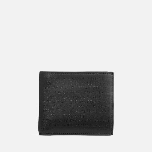 Armani Exchange Men's Laser Logo Wallet - Nero