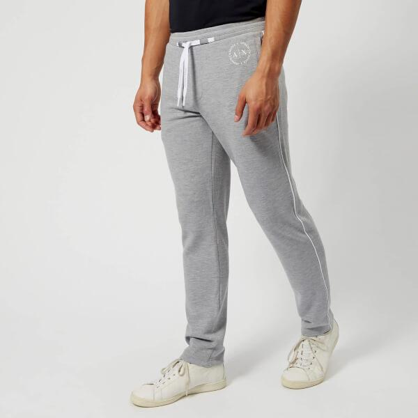 armani exchange men's drawstring sweatpants - heather grey - l - grey