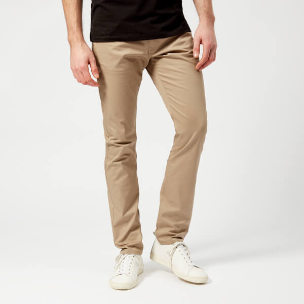 armani exchange men's 5 pocket trousers - khaki - w38/l34 - green