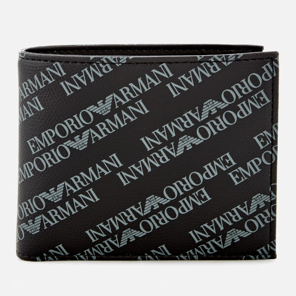 Emporio Armani Men's Small Bi-Fold Coin Wallet - Lavagna/Nero