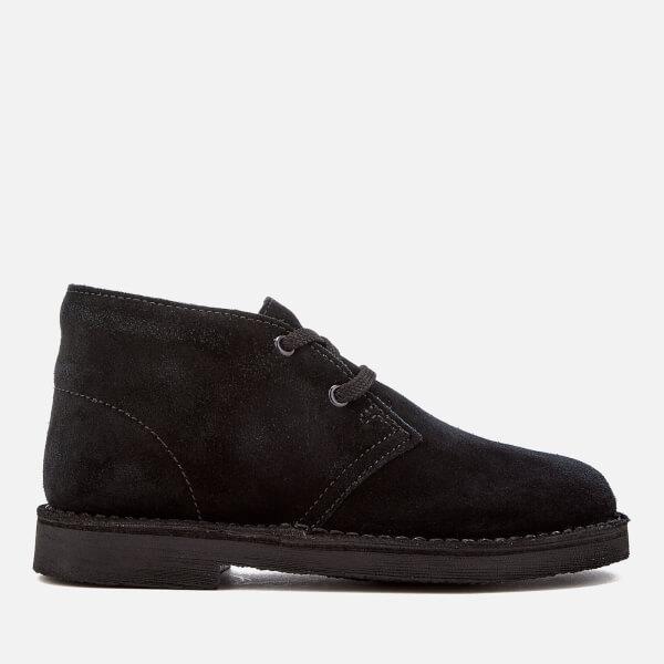 Clarks Originals Kids' Desert Boots - Black Suede