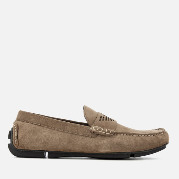 Emporio Armani Men's Suede Driver Shoes - Nature