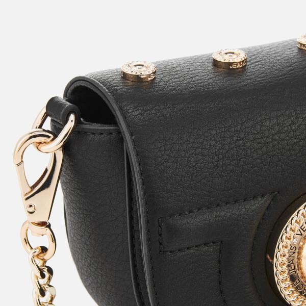 Versace Jeans Women s Flap Over Cross Body Bag - Black  Image 5 539894938bcf8