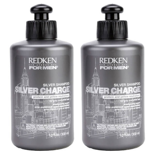 Redken For Men Silver Charge Shampoo Duo (2 x 300ml)  Image 1 eb4c623dd7c1