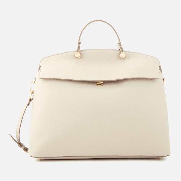 Furla Women's My Piper Large Top Handle Bag - Beige