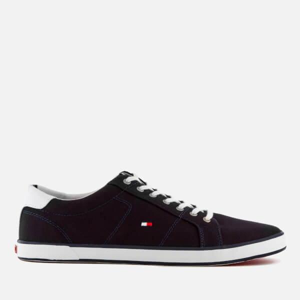 Tommy Hilfiger Men's Canvas Low Top Trainers - Midnight