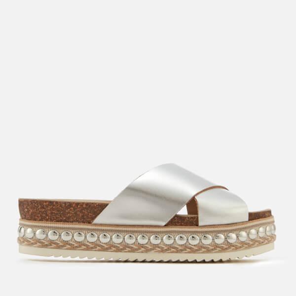 CARVELA Kake flatform leather sandals White - Z6236