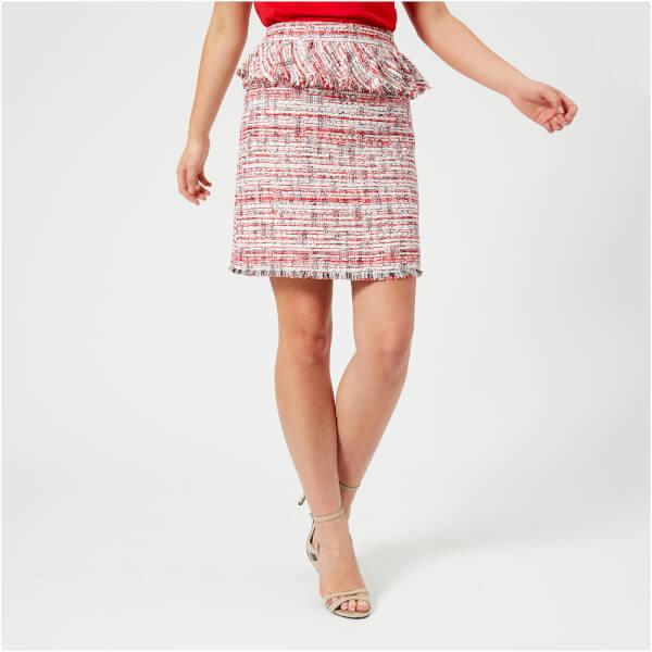 Karl Lagerfeld Women's Captain Karl Boucle Skirt - Red - It 44/Uk 12 - Red