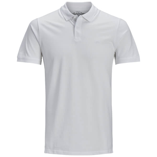 Jack & Jones Men's Originals Basic Polo Shirt - White